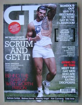 Gay Times magazine - Stuart Reardon cover (October 2013)