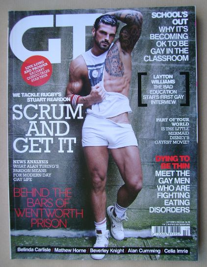 <!--2013-10-->Gay Times magazine - Stuart Reardon cover (October 2013)