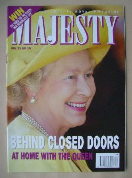 Majesty magazine - The Queen cover (October 2002 - Volume 23 No 10)