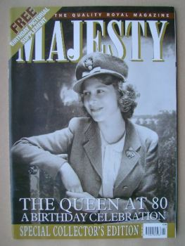 Majesty magazine - The Queen cover (April 2006 - Volume 27 No 4)