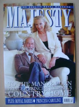 Majesty magazine - Prince and Princess Michael of Kent cover (March 2006 - Volume 27 No 3)