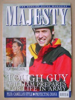 Majesty magazine - Prince William cover (February 2006 - Volume 27 No 2)
