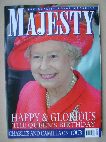 <!--2006-05-->Majesty magazine - The Queen cover (May 2006 - Volume 27 No 5