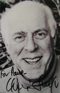 Clive Swift autograph (hand-signed photograph, dedicated)
