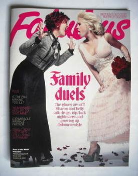 Fabulous magazine - Sharon Osbourne and Kelly Osbourne cover (14 March 2010)