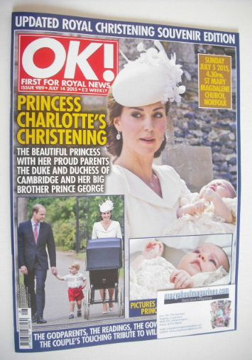 <!--2015-07-14-->OK! magazine - Princess Charlotte christening cover (14 Ju