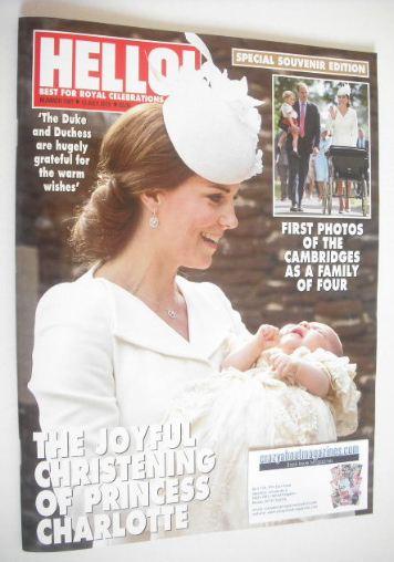<!--2015-07-13-->Hello magazine - Princess Charlotte christening cover (13