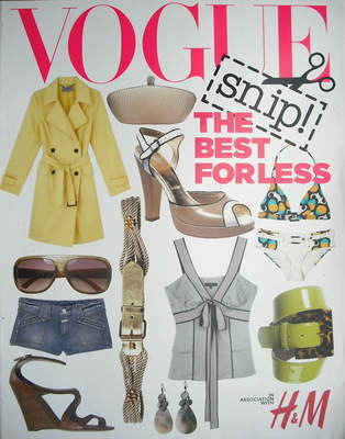 British Vogue supplement - The Best For Less (2006)