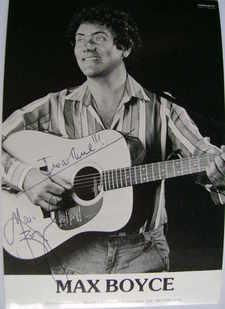 Max Boyce autograph