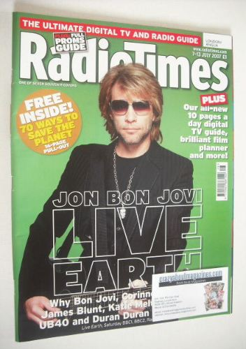 <!--2007-07-07-->Radio Times magazine - Jon Bon Jovi cover (7-13 July 2007)