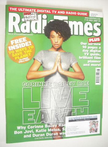 <!--2007-07-07-->Radio Times magazine - Corinne Bailey Rae cover (7-13 July