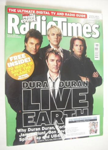 <!--2007-07-07-->Radio Times magazine - Duran Duran cover (7-13 July 2007)