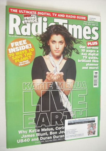 <!--2007-07-07-->Radio Times magazine - Katie Melua cover (7-13 July 2007)