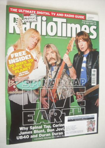 <!--2007-07-07-->Radio Times magazine - Spinal Tap cover (7-13 July 2007)