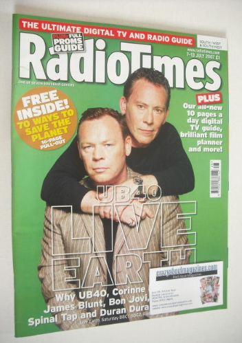 <!--2007-07-07-->Radio Times magazine - UB40 cover (7-13 July 2007)