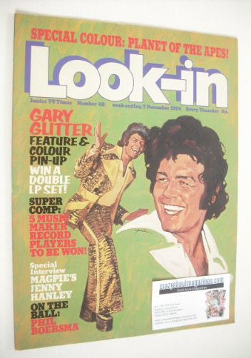 <!--1974-12-07-->Look In magazine - Gary Glitter cover (7 December 1974 - N