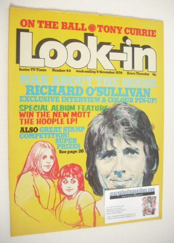<!--1974-11-09-->Look In magazine - Richard O'Sullivan cover (9 November 19
