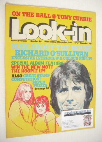 <!--1974-11-09-->Look In magazine - Richard O'Sullivan cover (9 November 19