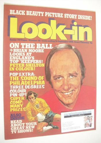 <!--1974-09-14-->Look In magazine - Brian Moore cover (14 September 1974 -