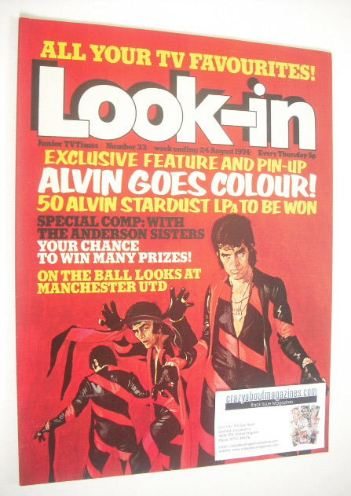 <!--1974-08-24-->Look In magazine - Alvin Stardust cover (24 August 1974 -