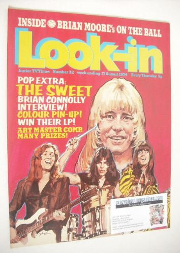 <!--1974-08-17-->Look In magazine - The Sweet cover (17 August 1974 - Numbe