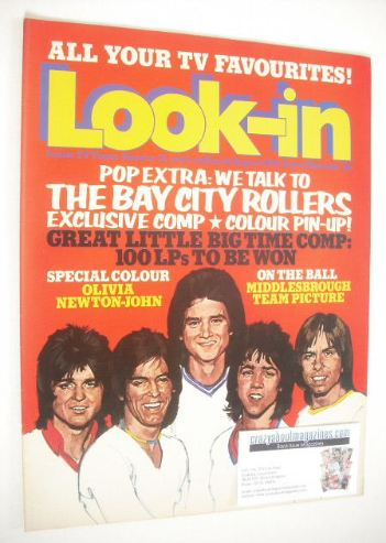 <!--1974-08-10-->Look In magazine - Bay City Rollers cover (10 August 1974