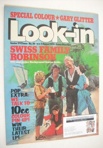 <!--1974-08-03-->Look In magazine - Swiss Family Robinson cover (3 August 1
