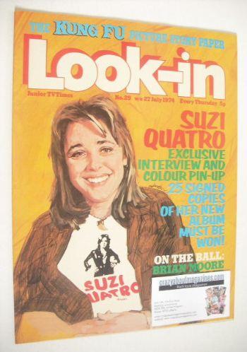 <!--1974-07-27-->Look In magazine - Suzi Quatro cover (27 July 1974 - Numbe