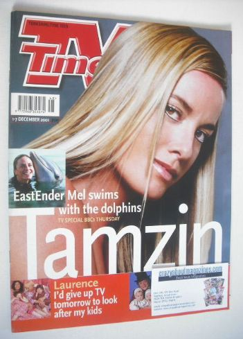 <!--2001-12-01-->TV Times magazine - Tamzin Outhwaite cover (1-7 December 2