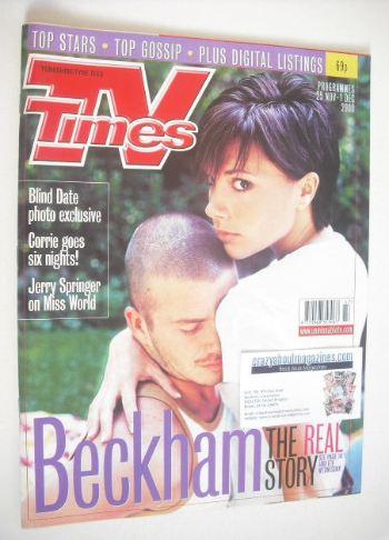 <!--2000-11-25-->TV Times magazine - David Beckham and Victoria Beckham cov