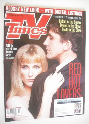 <!--2000-11-04-->TV Times magazine - Stephen McGann and Anna Brecon cover (