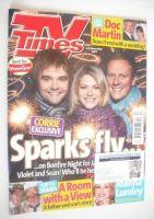<!--2007-11-03-->TV Times magazine - Rupert Hill, Jenny Platt and Antony Cotton cover (3-9 November 2007)