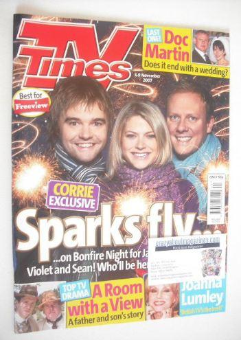 <!--2007-11-03-->TV Times magazine - Rupert Hill, Jenny Platt and Antony Co