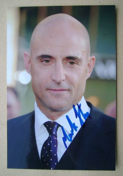 Mark Strong autograph (hand-signed photograph)