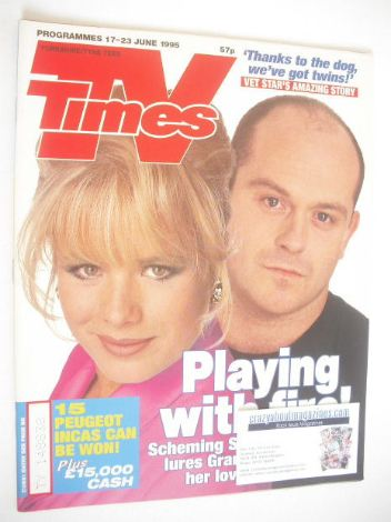 <!--1995-06-17-->TV Times magazine - Letitia Dean and Ross Kemp cover (17-2