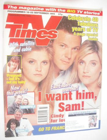<!--1995-09-16-->TV Times magazine - Danniella Westbrook, Michael French an