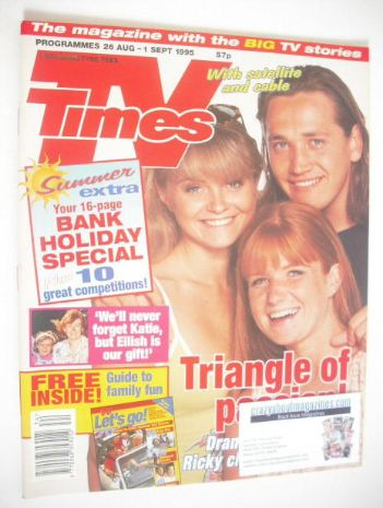 <!--1995-08-26-->TV Times magazine - Danniella Westbrook, Patsy Palmer and