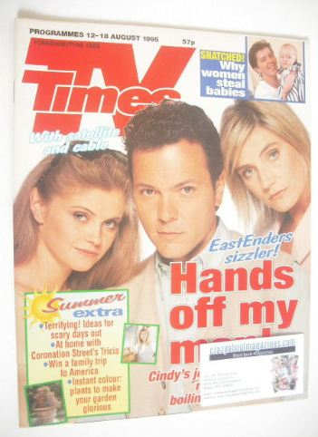 <!--1995-08-12-->TV Times magazine - Danniella Westbrook, Michelle Collins