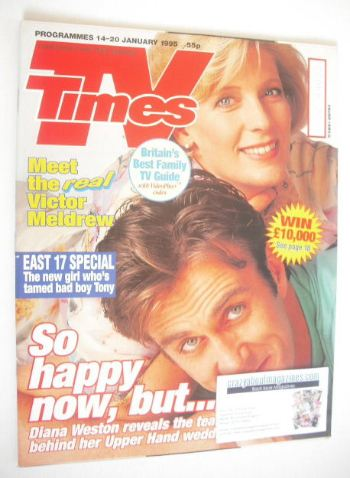 <!--1995-01-14-->TV Times magazine - Diana Weston and Joe McGann cover (14-