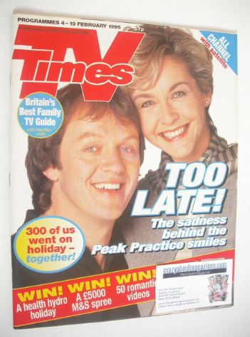 <!--1995-02-04-->TV Times magazine - Kevin Whately and Amanda Burton cover