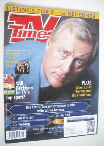 <!--2001-12-08-->TV Times magazine - Chris Tarrant cover (8-14 December 200