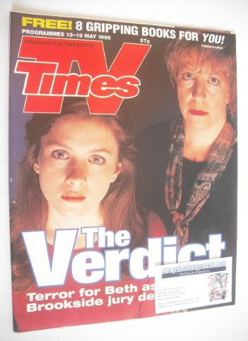 <!--1995-05-13-->TV Times magazine - Anna Friel and Sandra Maitland cover (