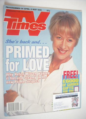 <!--1995-04-29-->TV Times magazine - Helen Mirren cover (29 April - 5 May 1