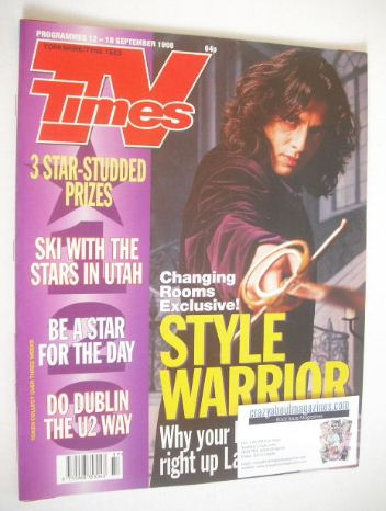 <!--1998-09-12-->TV Times magazine - Laurence Llewelyn-Bowen cover (12-18 S
