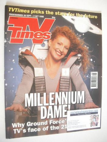 <!--1998-09-26-->TV Times magazine - Charlie Dimmock cover (26 September -