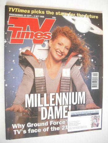 <!--1998-09-26-->TV Times magazine - Charlie Dimmock cover (26 September -