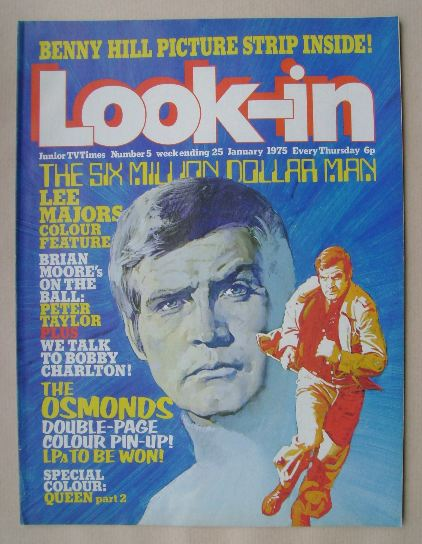 <!--1975-01-25-->Look In magazine - Lee Majors cover (25 January 1975)