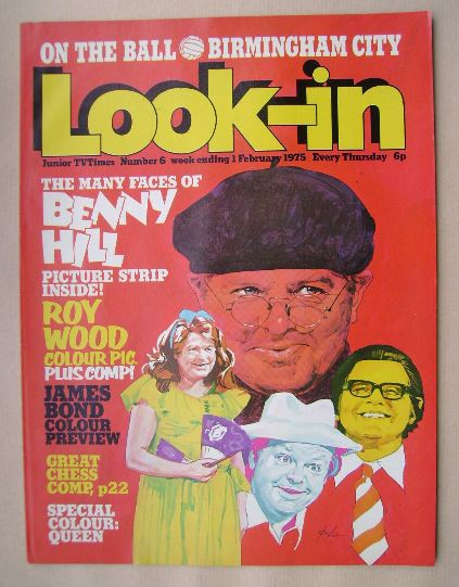 <!--1975-02-01-->Look In magazine - Benny Hill cover (1 February 1975)