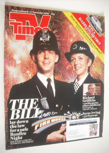 <!--1988-11-05-->TV Times magazine - The Bill cover (5-11 November 1988)
