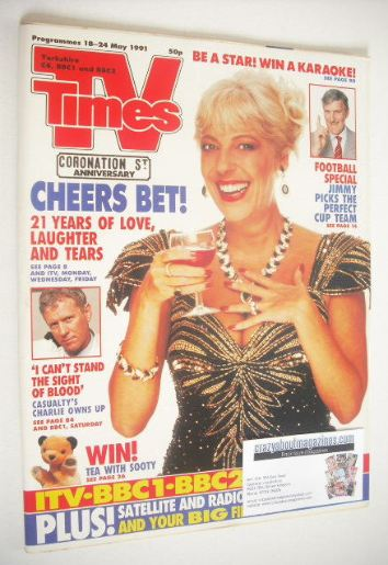 <!--1991-05-18-->TV Times magazine - Julie Goodyear cover (18-24 May 1991)